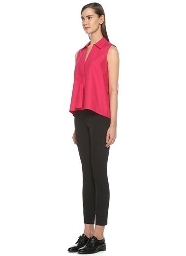 Beymen Collection Önü Açık Kolsuz Bluz Fuşya